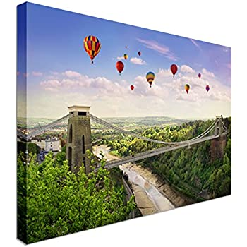 Framed 30 x 40 Official Print Bristol Clifton Suspension Bridge