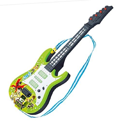 YVSoo Guitarra eléctrica para Niños, 4 Cuerdas Guitarra clásica Instrumentos Musicales Educativos Simulación Juguete Regalo (Verde)