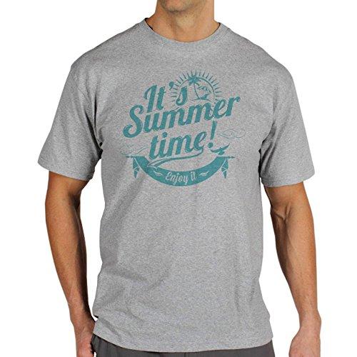 It's Summer Time Enjoy It Blue Edition Summer Mood Herren T-Shirt Grau
