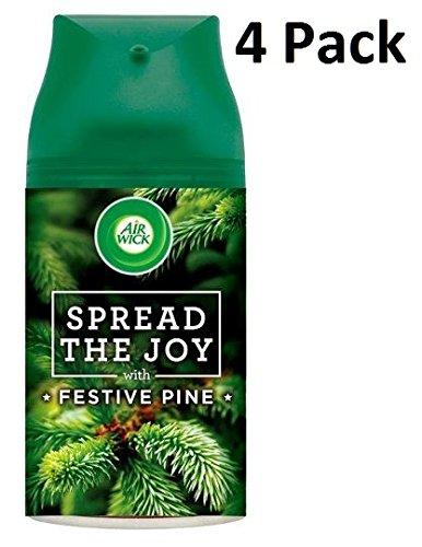 4 spray désodorisants automatiques Air Wick Freshmatic Max rechargeables - 250 ml - Senteur : Pin