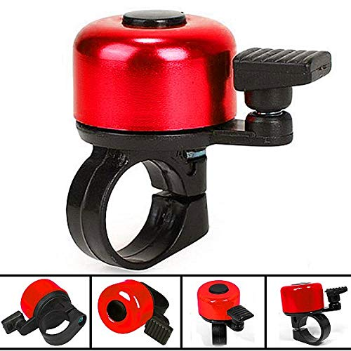 WOLTU Fahrrad Klingel Glocke Scooter Mini Glocke Alu Bell Ring Rot FZ1717rt