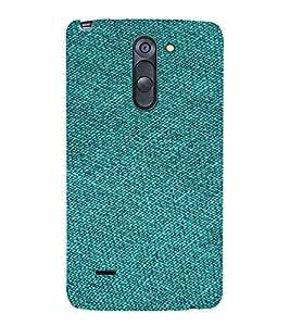 PrintVisa Green Denim Pattern 3D Hard Polycarbonate Designer Back Case Cover for LG G3 STYLUS