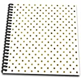 3dRose Print Of Gold Bling Polka Dots - Memory Book, 12 By 12-Inch (db_213095_2)