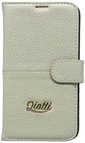 QIOTTI QP-B-0140-03-SGS5 Neo Q.Book Luxury, Premium Echtleder, 2 in 1 Abnehmbare Schutzhülle für Samsung Galaxy S5/S5 Creme