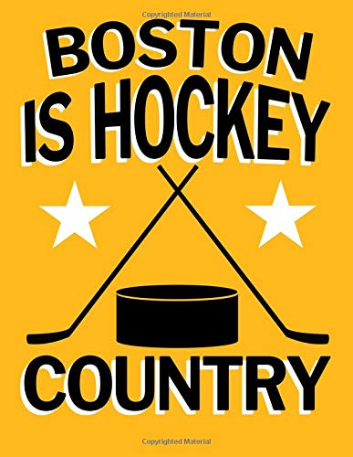 Boston is Hockey Country: Hockey Fan Blanked Lined 100 Page 8.5 x 11 inch Notebook Journal for Writing and Taking Notes por Rob Ventana