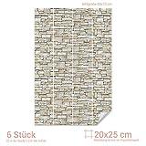 Graz Design 767080_20x25_50 Fliesenaufkleber Stein - Mauer - Optik | mit Fliesenbildern die Fliesen-Wände überkleben (Fliesenmaß: 20x25cm (BxH)//Bild: 50x75cm (BxH))