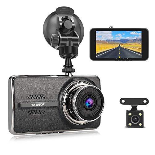 """Dual Dashcam, MixMart Autokamera Vorne und Hinten 1080P HD 4.0"""" Bildschirm 140° Weitwinkel Auto Dash Cam Kamera Rückfahrkamera mit G Sensor, WDR, Loop-Aufnahme, Bewegungserkennung, Parkmonitor"""
