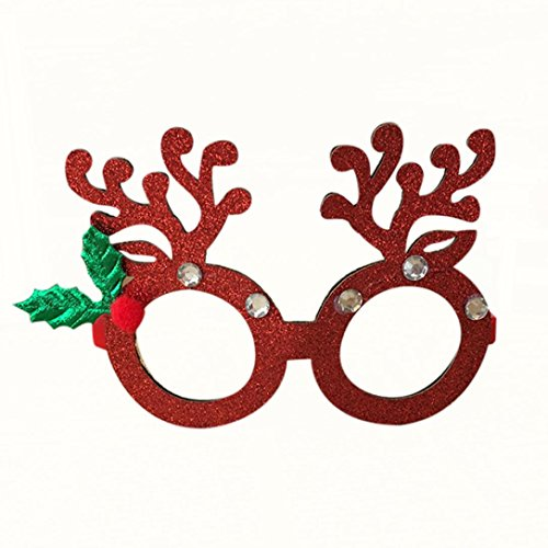 Kostüme Cane Rote (HKFV Weihnachtsschmuck Gläser Rahmen Decor Abend Party Spielzeug kinder Geschenke Weihnachtsdekoration Brille Rahmen Weihnachten Brillengestell Brille HKFV)