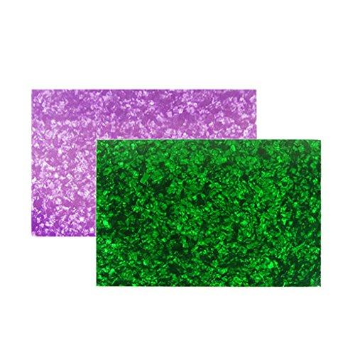unbeschriebenes Blatt Gitarre Bass Pickguard 3-fach kratzen Platte,Purple Pearl und Green Pearl ()