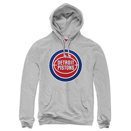 oit Pistons Logo NBA Sweatshirt Hoodie Grau M ()