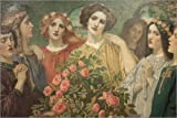 Acrylic print 90 x 60 cm: Hymn to the Rose (detail) by John Duncan
