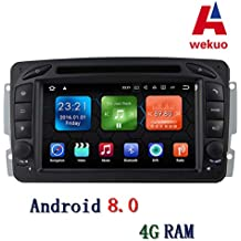 Wekuo 4G RAM Android 8.0 Coche DVD para Mercedes Benz W209 W203 W168 M ML W163