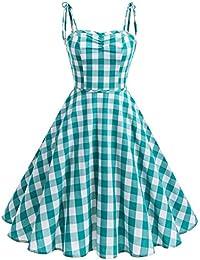 Wedtrend Robe vintage 1950\u0027s Audrey Hepburn pin,up Rockabilly Swing à  Bretelles avec Ceinture Robe