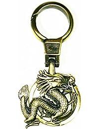 Gratitude Dragon Snake Theme Locking Keychain / Key Chain / Keyring / Key Ring