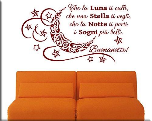 Adesivi murali frase buonanotte decorazioni da parete letto wall stickers