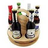 Der Holz-Bier-Träger für Feierfreunde mit Ihrer persönlichen Gravur - Das Geschenk zum Valentinstag für Männer