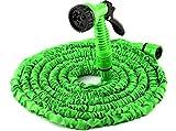 FlexiSchlauch - flexibler Gartenschlauch, Wasserschlauch in neuer verbesserte Qualität!!!, bis zu 30m dehnbar. Mit Brause und Adapter.