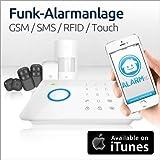 Special: Mit zusätzlichem Funk-Öffnungsmelder! Alarmanlage mit Funk und GSM-Technik - ALARMic Alarmanlage als Komplettpaket! Extrem zuverlässig, einfache Installation