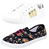 #8: Bersache Women Combo Pack of 2 Casual Sneaker Shoe