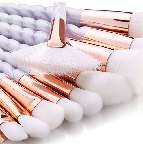 Lesley Pierce 10pcs Brosse de Maquillage de Licorne Brosse Poudre Contour Blush Correcteur