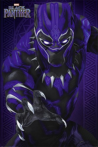 Póster Marvel Black Panther - Glow 61cm
