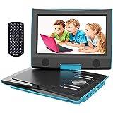 """ieGeek Lettore DVD Auto Portatile Bambini con Schermo HD 9.5"""", Regional Free, Batteria Ricaricabile, Doppio Jack per Cuffie, Porta AV / SD / USB (Blu)"""