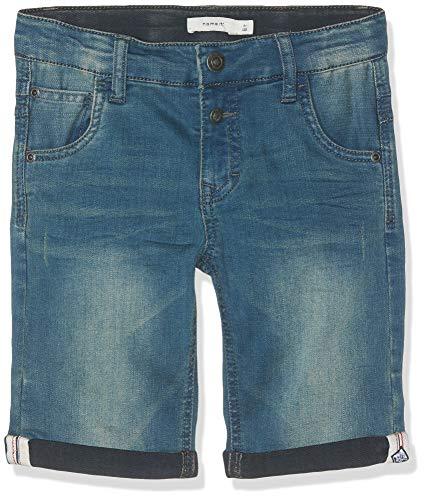 NAME IT NKMSOFUS DNMBAMATS 3193 Long Shorts NMT Bañador, Azul Dark Blue Denim, 164 cm para Niños