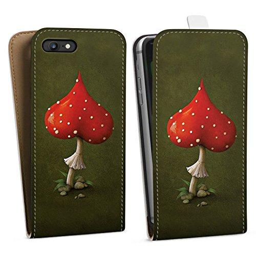 Apple iPhone X Silikon Hülle Case Schutzhülle Liebe Herz Fliegenpilz Downflip Tasche weiß