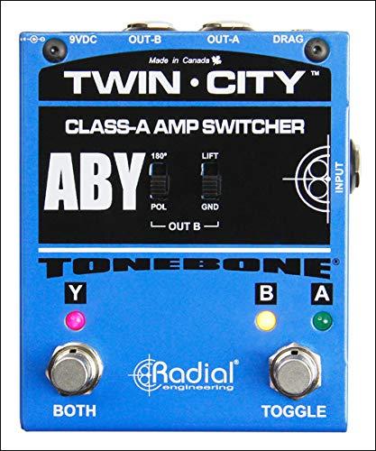 Tonebone Bones Twin-City ABY Gitarren-Effektschalter, Blau