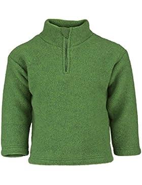 Engel Natur, Kleinkind Fleece Pullover mit Zipper, 100% Wolle (kbT)