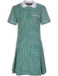 59a6922e333e72 Miss Chief Girl s School Uniform Pleated Gingham Summer Dress + Hair Bobble  Age 3 4 5