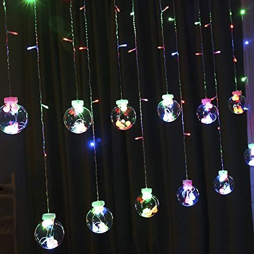 ZL wasserdichte Birnenschnur 2,5 M 108 LED-Vorhanglicht Kann in Reihe Für Schlafzimmerhochzeitsfeiertags-Partei Angeschlossen Werden