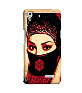 Omnam Girl Having Face Shy Printed Designer Back Cover Case For Oppo R7