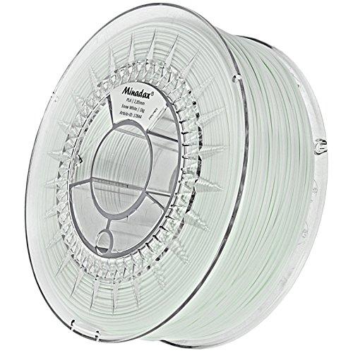 Minadax® - Filamento PLA para impresoras 3D, fabricado en Europa schneeweiß 3mm (2.85mm)