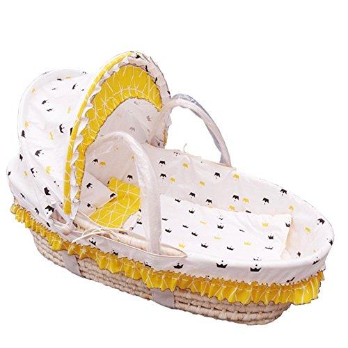 ALUK- Panier de Dessin animé Moses, 0-18 Mois Panier de bébé Nouveau-né Portable, Panier de Couchage Lit de Berceau Lit de bébé, Capacité de Charge 15kg (Couleur : #2)