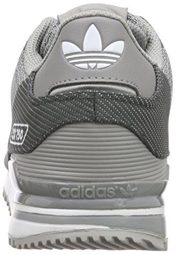 adidas Herren ZX 750 WV Low-Top Grau (Mgh Solid Grey/Ch Solid Grey/Ftwr White)