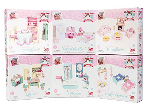 Le Toy Van ME100 Daisylane Wooden Doll's House Furniture (Set of 6)