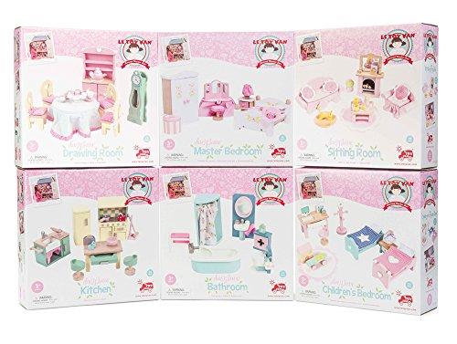 Le Toy Van - ME100, Daisylane Puppenhausmöbel aus Holz, 6 Stück - Lane Schlafzimmer-sets