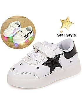 Zapatos De Ninos, Morbuy Unisex LED Patrón de Estrella Zapatos Niño Luces Suave y Cómodo Parpadea Deportes Zapatos...