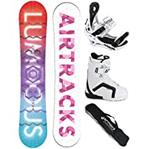 AIRTRACKS SNOWBOARD SET - TABLA LUMINOUS MUJER 145 - FIJACIONES SAVAGE W - BOTAS STRONG 38 - SB BOLSA/NUEVO