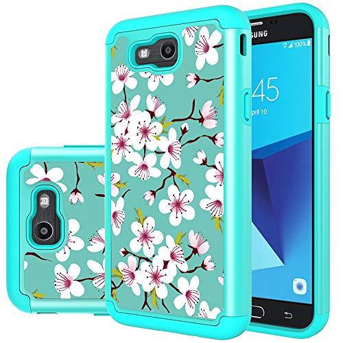 Yiakeng Schutzhülle für Samsung Galaxy J7 2017 / Galaxy J7 V 2017, stoßfest, strapazierfähig, doppellagig, für Samsung Galaxy J7 Sky Pro / J7V, 5.5