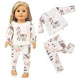 Upxiang Cute Sleepwear Pyjamas Nightgown Pyjama Gesetzt für 18 Zoll Unsere Generation American Girl Doll Kinder Geschenk (B)