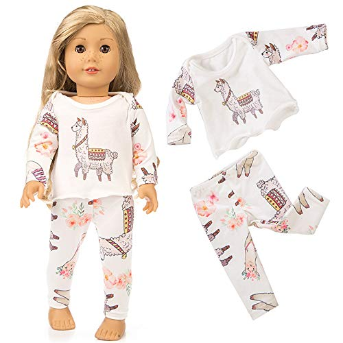 MCYs Puppe Pyjama 18 Zoll (ohne Puppen), Cute Sleepwear Pyjamas Nightgown für 18 Zoll Unsere Generation for American Girl Doll