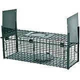 PROHEIM Lebendfalle Secure-S 53 cm - zuverlässige & sichere Tierfalle mit 2 Eingängen - sofort einsatzbereit & wetterfest - Rattenfalle mit Bissschutz - ideal für Ratten, Iltis, Marder