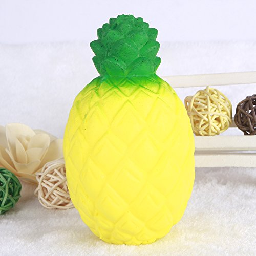 CALISTOUK 1PC Simulation Pineapple Squishy Soft Phone Straps Bread Cell Phone Charm Key Straps
