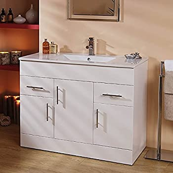 1000 Vanity Unit Basin with Cabinet White (+4 Vanity Units ...