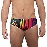 OPTIMUM, Costume da Bagno, da Uomo, Motivo: Arcobaleno, zebrato Multicolore Multicolori Taglia 36