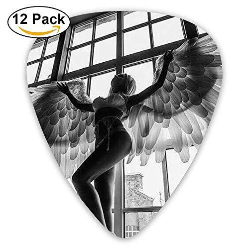 Accessories Personalized Angel Wine Girl Acoustic Guitar Picks 12 Packs (R5 Picks)