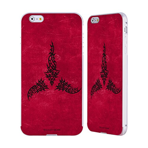 Ufficiale Star Trek Worf Angosciato Klingon Arte Dellarma Argento Cover Contorno con Bumper in Alluminio per Apple iPhone 5 / 5s / SE Impero Angosciato