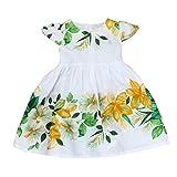 Rawdah Vestiti di vestito dalla principessa floreale della principessa del bambino dei bambini del bambino (6-7 anni, verde)